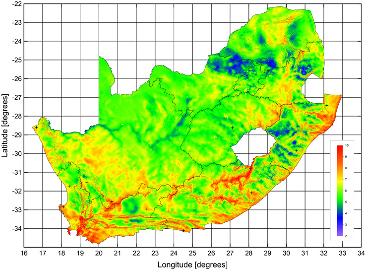 Wind Map South Africa South African Wind Atlas | South African Wind Energy Association